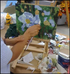 Painting a flower with Jack Knight
