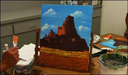 Mountian Painting with Jack Knight