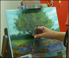 Painting a tree with Jack Knight
